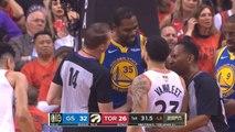 Kevin Durant trash talks with Fred VanVleet - Raptors vs Warriors Game 5