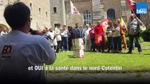 Manifestation contre l'Agence Régionale de Santé à l'hôpital de Valognes