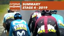 Summary - Stage 4 - Critérium du Dauphiné 2019