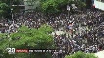 Hong Kong : la rue maintient la pression contre l'extradition vers la Chine