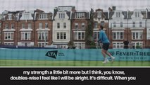 """(Subtitled) """"Pain free"""" Murray trains at Queen club ahead of come back"""