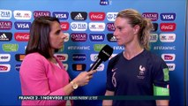 La réaction d'Amandine Henry