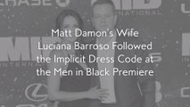 Matt Damon's Wife Luciana Barroso Followed the Implicit Dress Code at the Men in BlackPremiere