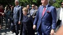 Clinton et Albright au Kosovo
