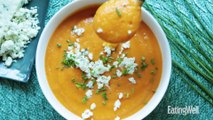 Roasted Pear-Butternut Soup with Blue Cheese