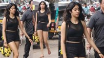 Jhanvi Kapoor looks beautiful in her gym look at Mumbai streets | Boldsky