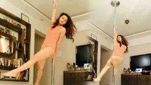 Aashka Goradia's pole dance video is enough to AMAZE you   Boldsky