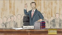 Courtroom Sketches Of Don Jr.'s Closed Hearing