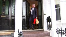Michael Gove ignores leadership questions as he leaves home