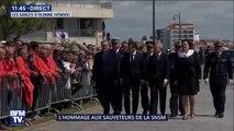 Hommage aux sauveteurs de la SNSM: Emmanuel Macron arrive au prieuré Saint-Nicolas des Sables-d'Olonne