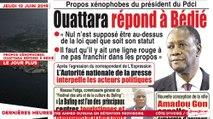 Le Titrologue du 13 Juin 2019 : Propos xénophobes, Ouattara répond à Bédié