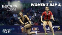 Squash: CIB PSA World Tour Finals 2018/19 - Women's Day 4 Roundup