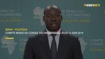 Bénin : compte rendu du conseil des ministres du jeudi 13 juin 2019