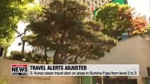 S. Korea raises travel alert on areas in Burkina Faso from level 2 to 3