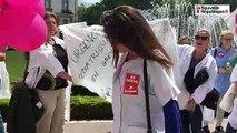 CHU de Tours : les services d'urgences dans la rue