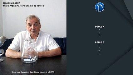 Tirage au sort Open Master Féminin de Toulon 2019
