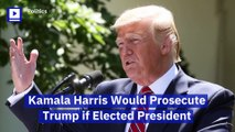Kamala Harris Would Prosecute Trump if Elected President