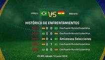 Previa partido entre Brasil y Bolivia Jornada 1 Copa América