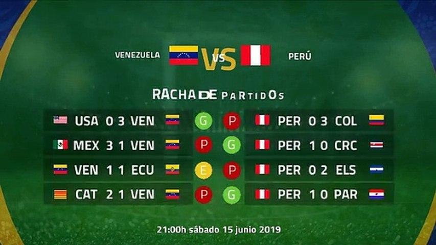 Previa partido entre Venezuela y Perú Jornada 1 Copa América