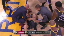 Klay Thompson LEG INJURY, Torn ACL - Game 6 - Raptors vs Warriors - 2019 NBA Finals