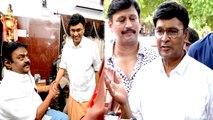 Nadigar Sangam Election News - விஜயகாந்தை சந்தித்து ஆதரவு கேட்ட சுவாமி சங்கரதாஸ் அணியினர்