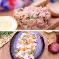 Tartare de saumon VS ceviche de cabillaud