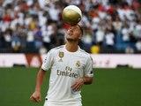 Les premiers pas d'Eden Hazard au Santiago Bernabeu