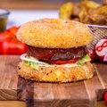 Burger Babybel pané géant