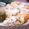 Etoiles feuilletées au saumon, au pesto et à la mozzarella