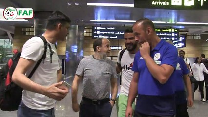 Arrivée d'Andy Delort à Doha
