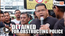 Lokman detained for obstructing police