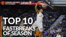 2018-19 Turkish Airlines EuroLeague: Top 10 Fastbreaks!