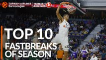2018-19 Turkish Airlines EuroLeague: Top 10 Fastbreaks!