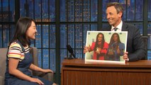 Seth Tests Millennial Late Night Writer Karen Chee on Her Knowledge of the Past