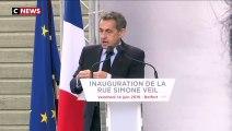Nicolas Sarkozy: «Le combat de Simone Veil, n'est pas un combat historique, c'est un combat profondément actuel»