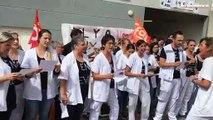 Martigues : les personnels urgentistes crient et chantent leur colère