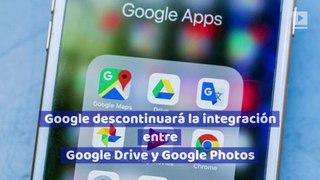 Google descontinuará la integración entre Google Drive y Google Photos