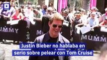 Justin Bieber no hablaba en serio sobre pelear con Tom Cruise