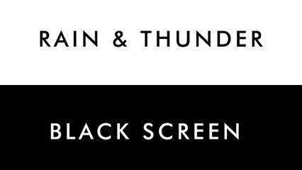 RAIN, THUNDER & WATERDROPS   10 HOURS - Water Sound for SPA, Sleep, Study, Yoga, Meditation, Nature Sound - Black Screen - 4K