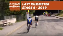 Last Kilometer / Dernier kilomètre - Étape 6 / Stage 6 - Critérium du Dauphiné 2019