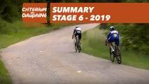 Summary - Stage 6 - Critérium du Dauphiné 2019