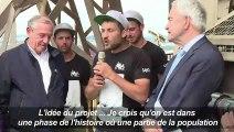 Tour Eiffel : une fresque en hommage au sauvetage humanitaire
