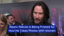 Keanu Reeves Is Careful Around Fans