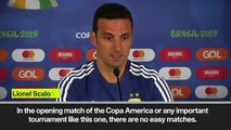 (Subtitled) Scaloni expects a tough start to the tournament as Argentina prepare to face Colombia