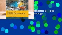 [MOST WISHED]  Basics of Research Methods for Criminal Justice and Criminology