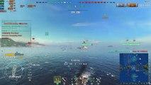 World Of Warship Gameplay #31 Emile Bertin Cruiser Warship With System Statistics