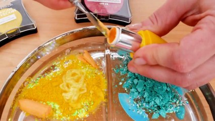 Pink vs Blue vs Yellow - Mixing Makeup Eye shadow Into Slime! Special Series Satisfying Slime Video