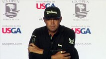 U.S. Open leader Gary Woodland comments after his second round