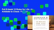 Full E-book 12 Rules for Life: An Antidote to Chaos  For Full