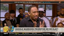 First Take - Should Warriors prioritize Kevin Durant or Klay Thompson in free agency?